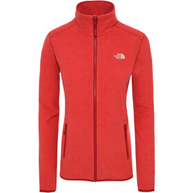 The North Face 100 Glacier Chaqueta con cremallera completa Mujer, cardinal red/juicy red stripe